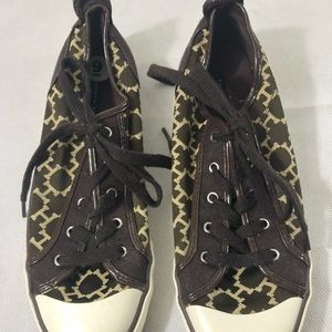 Tommy Hilfiger Shoes - Tommy Hilfiger Patterned Sneakers Shoes 9 Brown